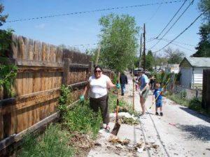 Neighborhood cleanup in Barnum